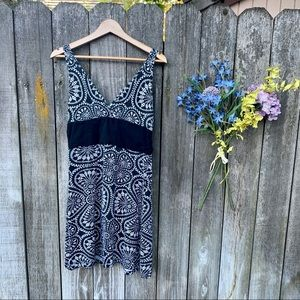 Women's Patagonia Black Batik Print Dress Size L